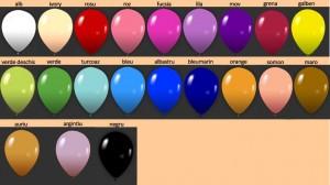 gama culori baloane