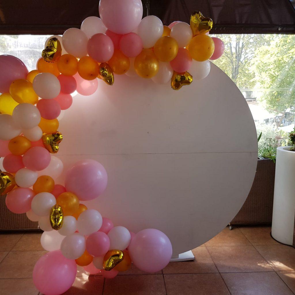 arcada organica alb roz auriu