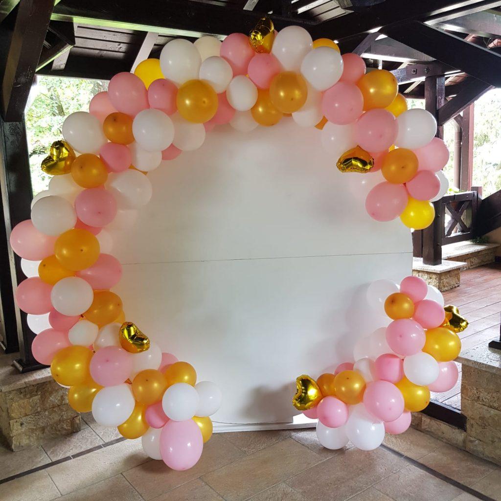 arcada organica roz auriu